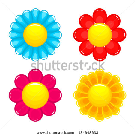 Pink And Yellow Flowers Stock Photos, Royalty.