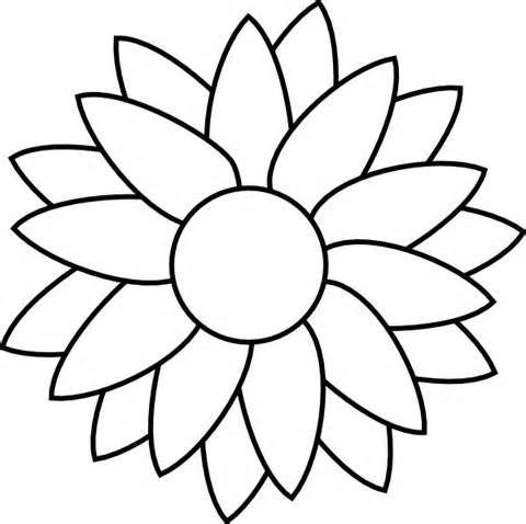 Flower Clip Art Free Stencil.