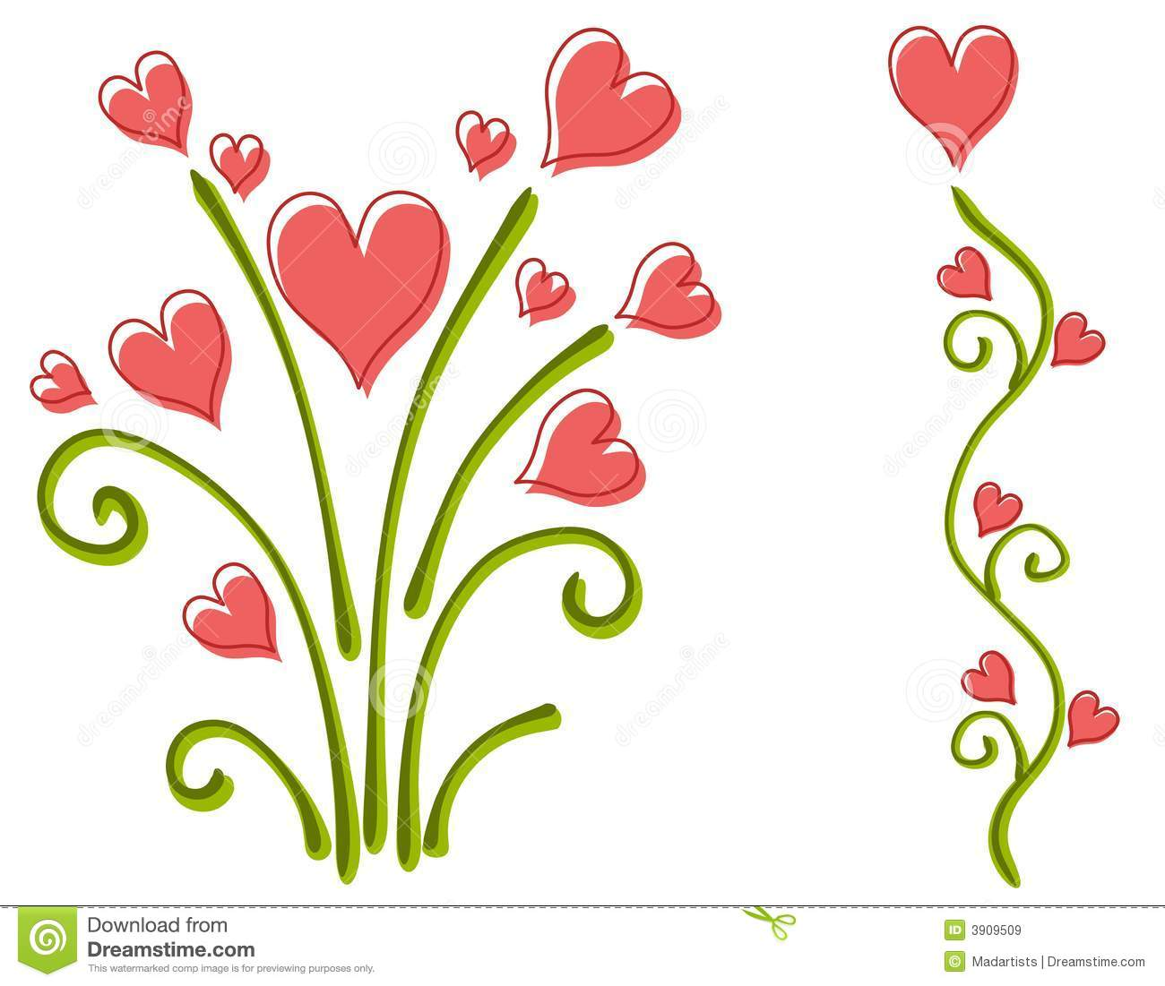 Flower heart clip art.