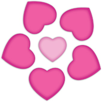 Pink Flower Heart Clipart.