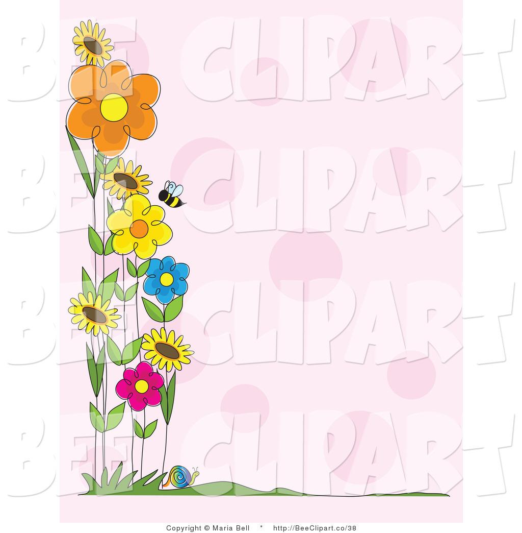 Royalty Free Flower Stock Bee Designs.