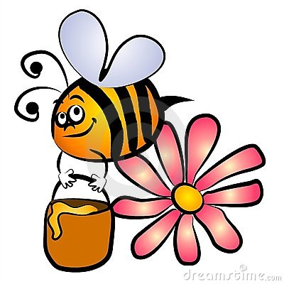 Best Bee and Flower Clipart #29230.
