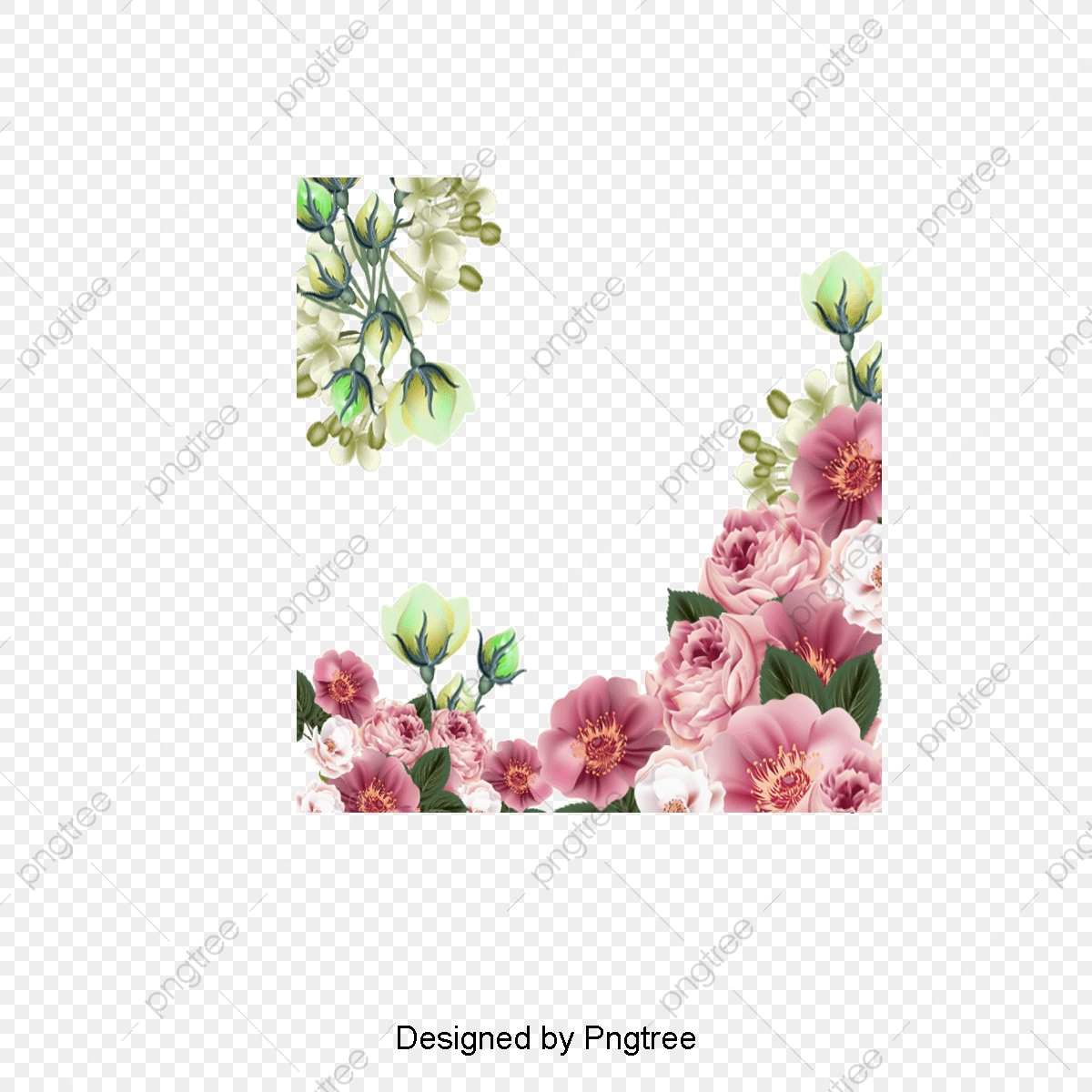 Beautiful Flowers Vector Illustration, Illustration, Flowers.