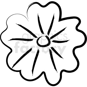 cartoon flower drawing vector icon clipart. Royalty.