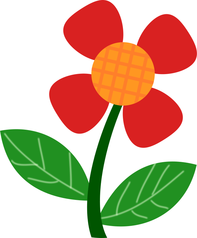 Free Clipart: Red flower.