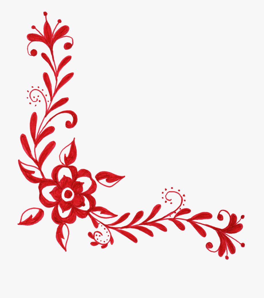 Red Flower Clipart Png Format.