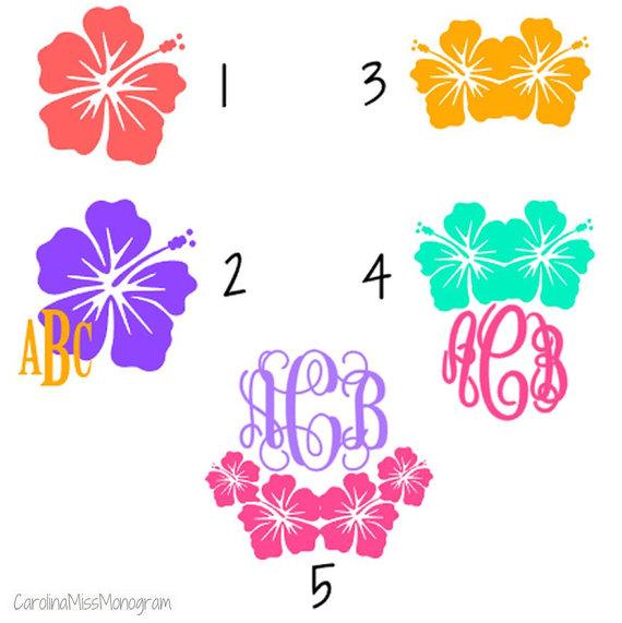 Hibiscus Hawaiian Flower Monogram by CarolinaMissMonogram.