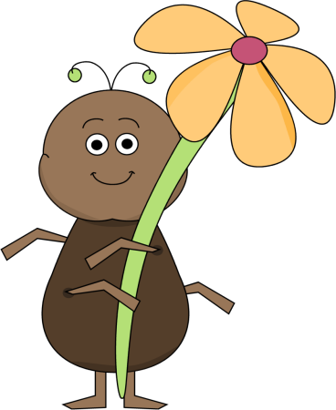 Insect Clip Art Flowers.
