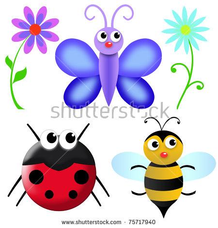 Cartoon Insects Stock Photos, Royalty.