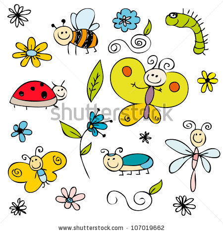 Cartoon Butterfly Stock Images, Royalty.