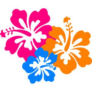 Island flowers clipart.