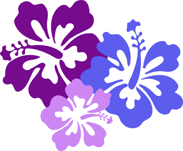 Island flowers clipart.