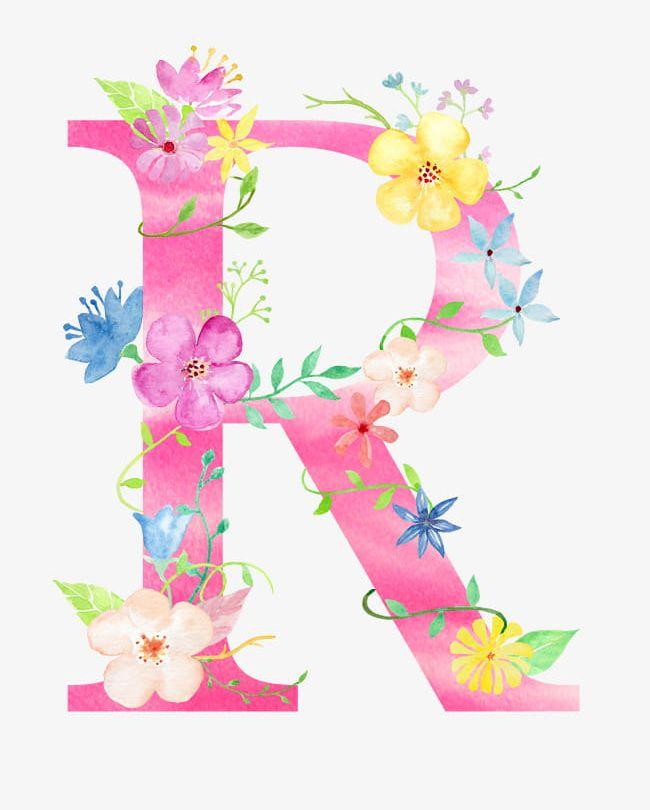 Flowers Letter R PNG, Clipart, Decorate, Decoration, Diagram.