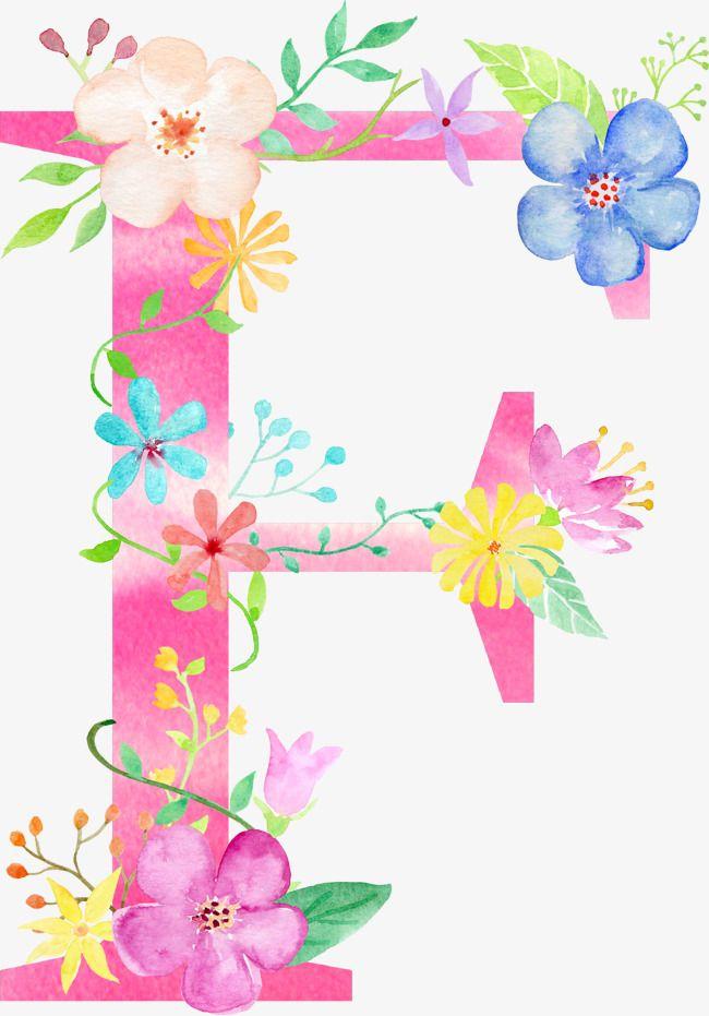 Flowers Letter F, Letter Clipart, Letter, Flower PNG.