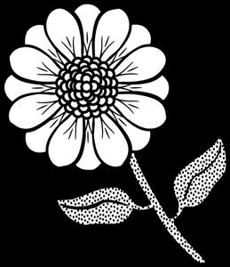 6393 flower line drawing clip art free.