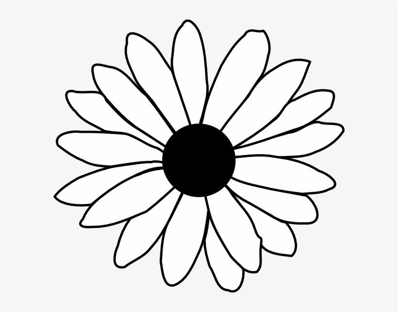 Flower Line Drawing Clip Art Free.