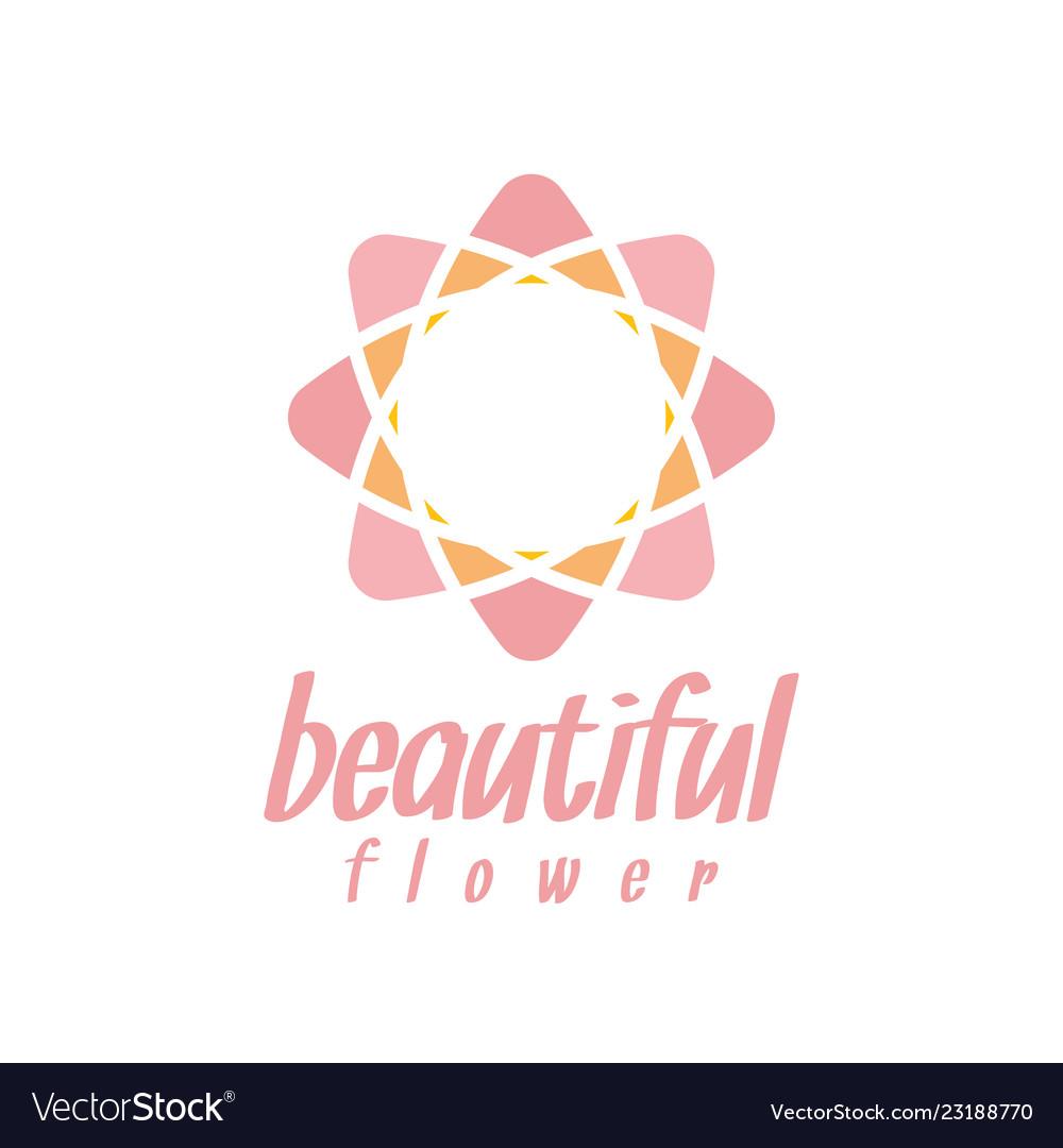 Pink flower logo design inspiration.