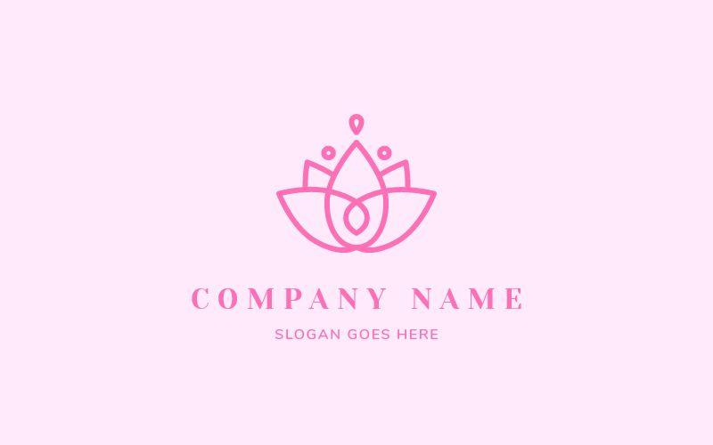 Lotus flower logo design.