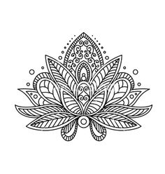 lotus flower tattoo vector.