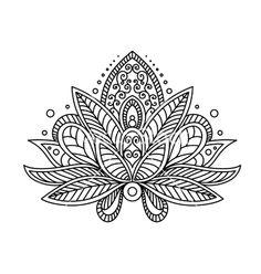 lotus flower tattoo vector.