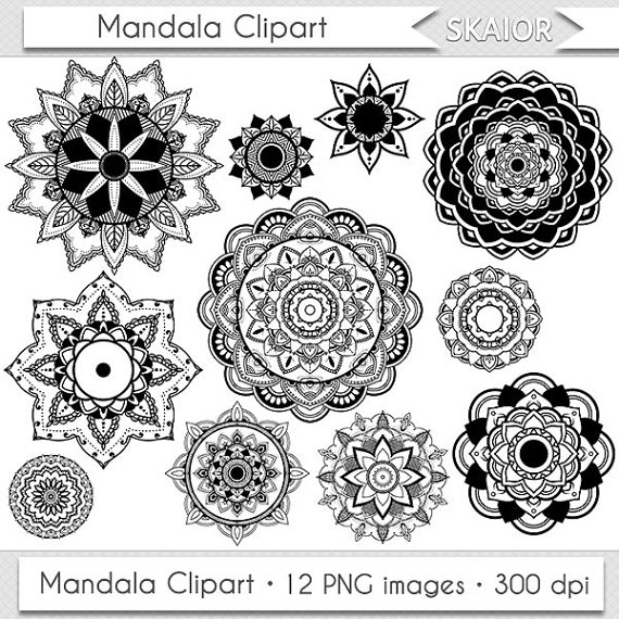 Lotus Flower Mandala Clipart.