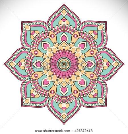 Flower Mandala Clipart.
