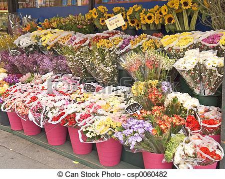 Clip Art of Flower Market Art.