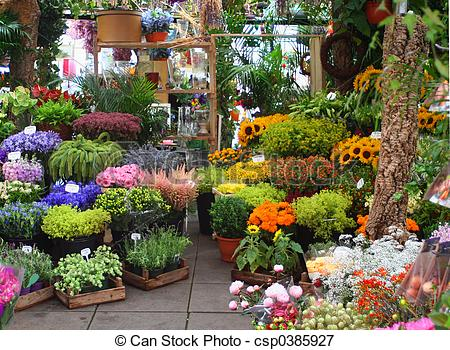 Picture of flower market.