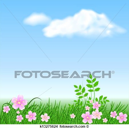 Meadow Of Flowers Clipart.
