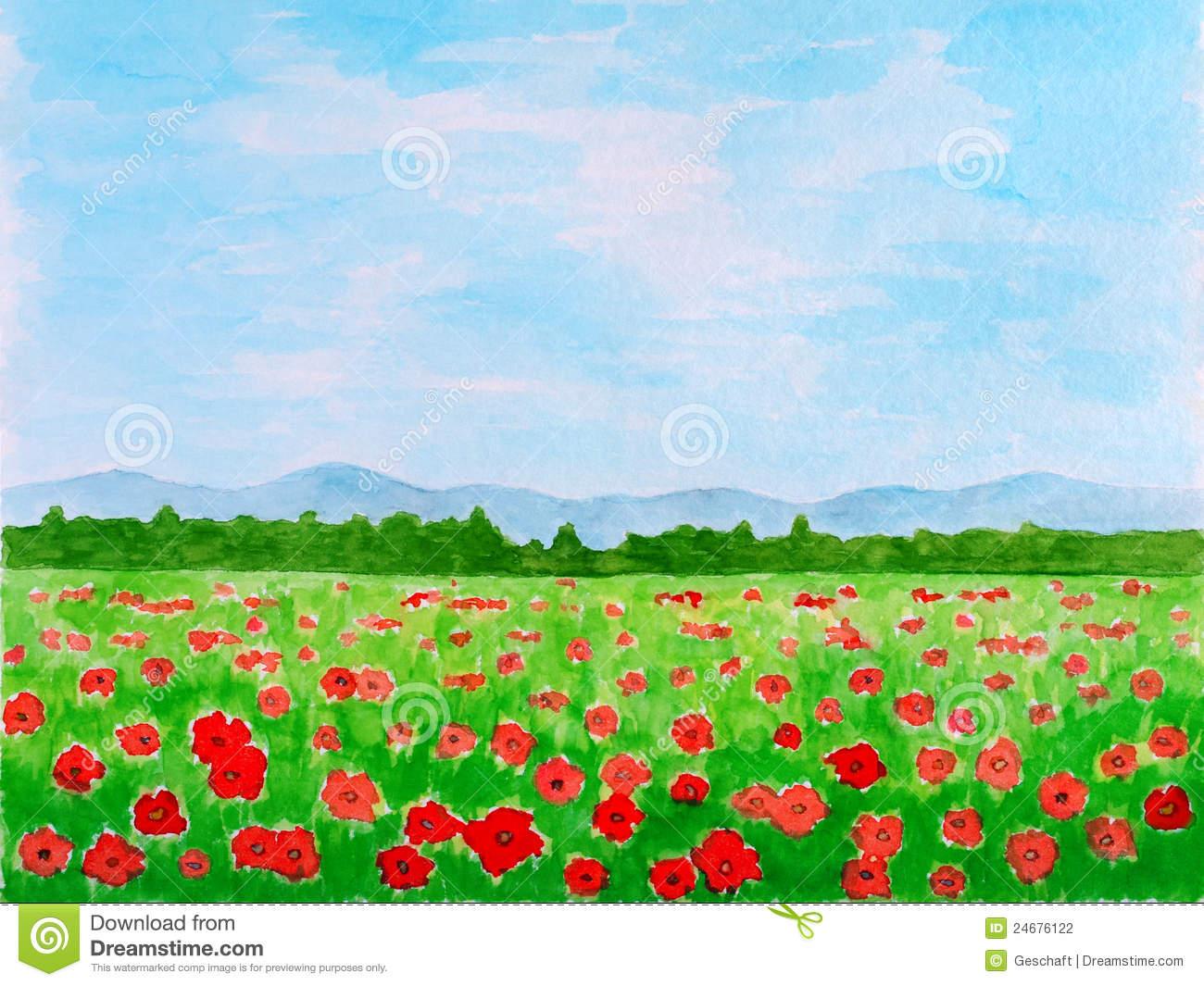 Flower meadow clipart #16