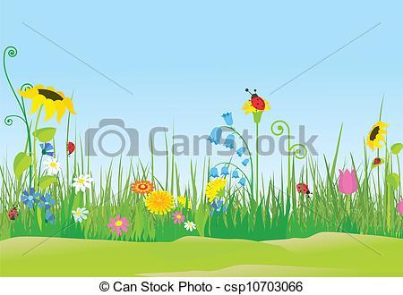 Flower meadow Stock Illustrations. 22,404 Flower meadow clip art.
