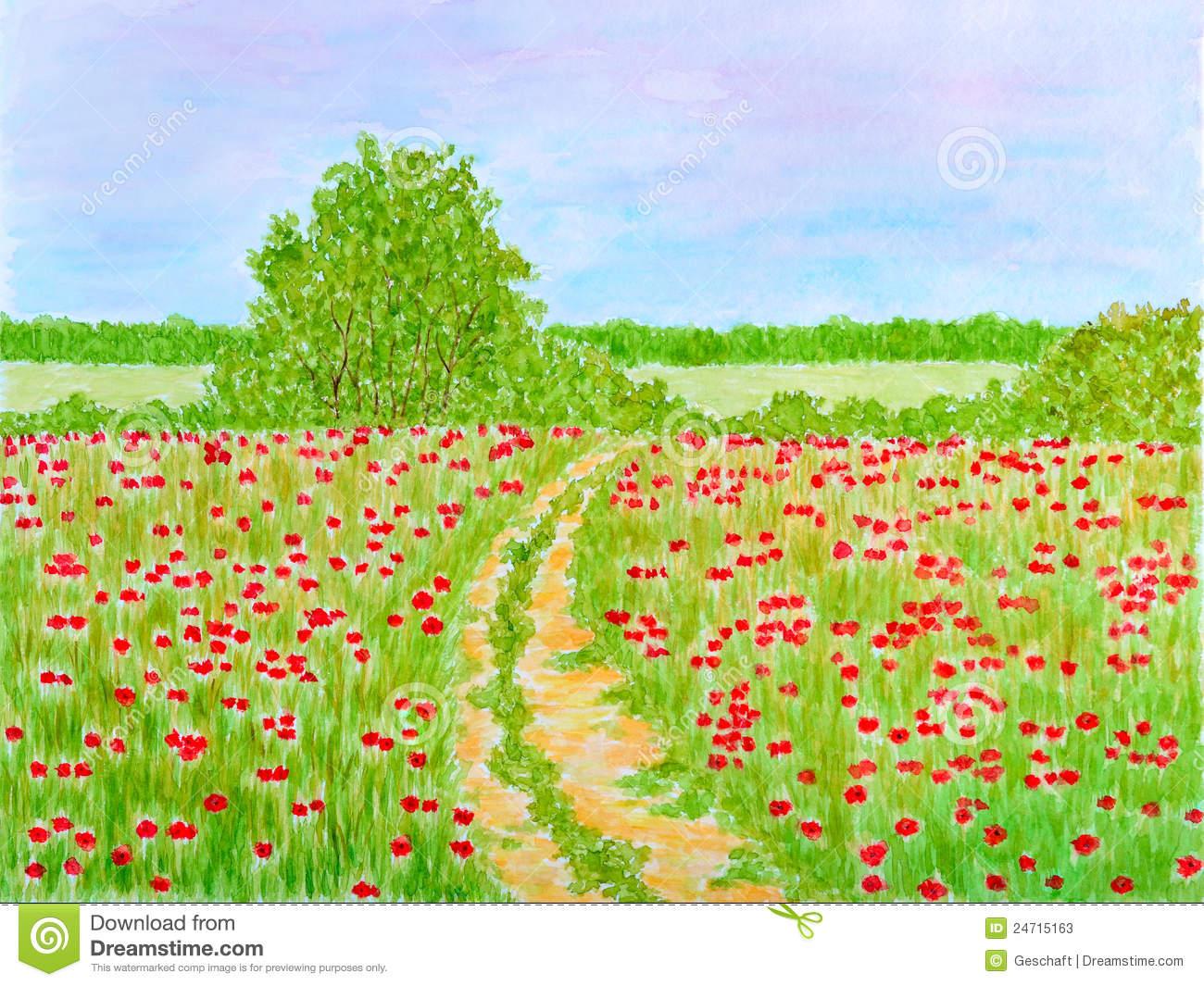 Flower meadow clipart.