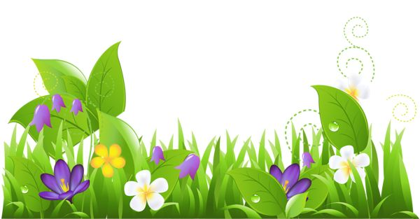 Nature clipart with flowers.