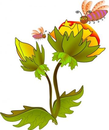Cartoon Plant Nectar Clipart.