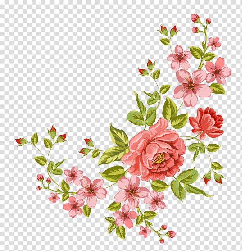 Flower , Corner flower, pink flowers transparent background.