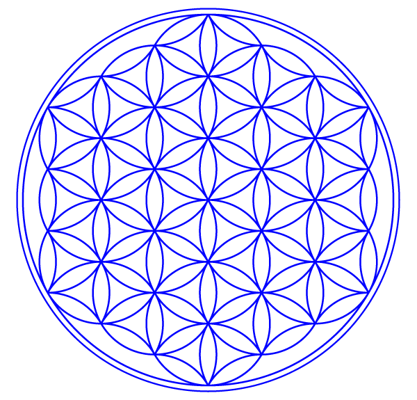 Flower of Life Vector Image.