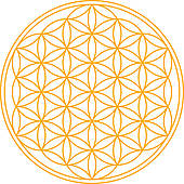 Clipart of The Flower of Life k5292935.