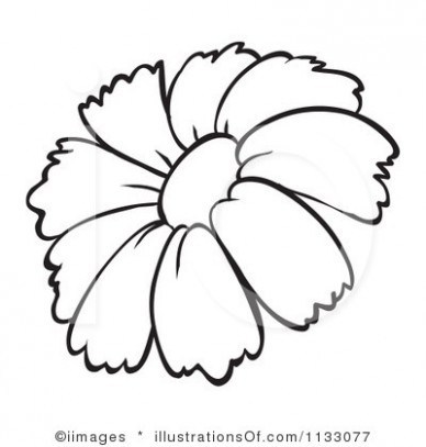 Flower Clip Art Outline.