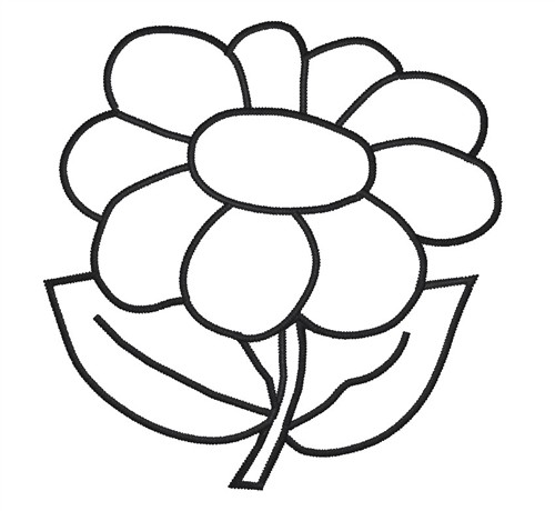 Free Flower Outline, Download Free Clip Art, Free Clip Art.