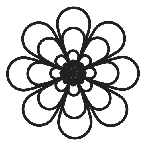 Dahlia flower outline icon.