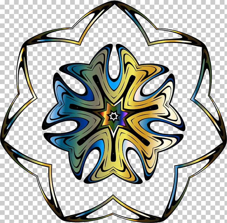 Symmetry Line Leaf , mandala flower pack PNG clipart.