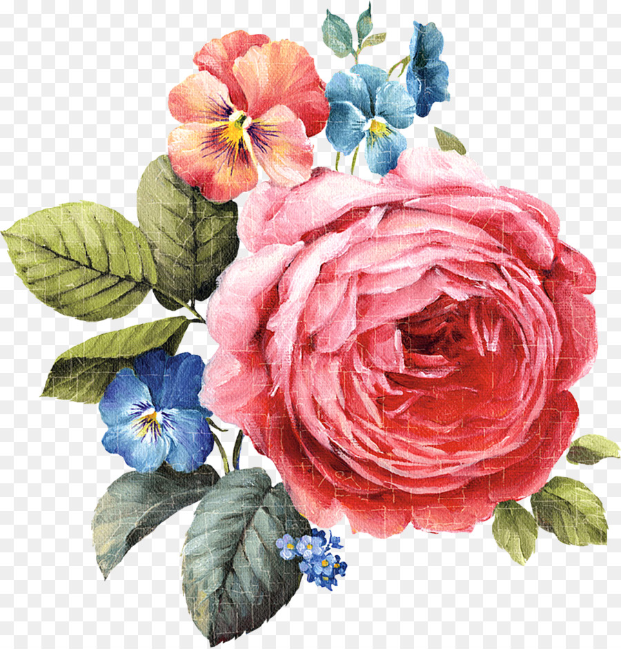 Watercolor Flower Background.