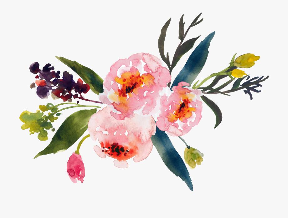 Graphic Transparent Watercolor Paint Clipart.