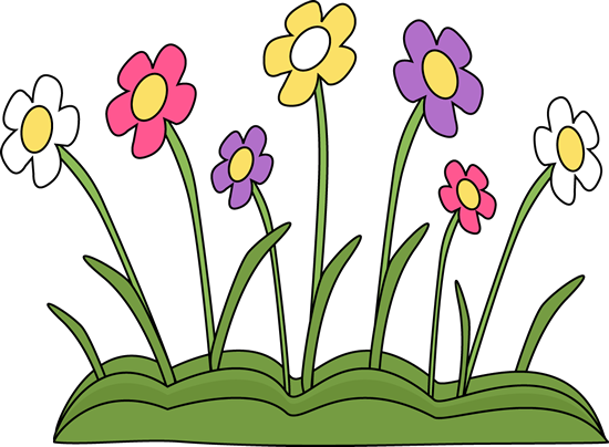 Spring Flower Patch Clip Art.