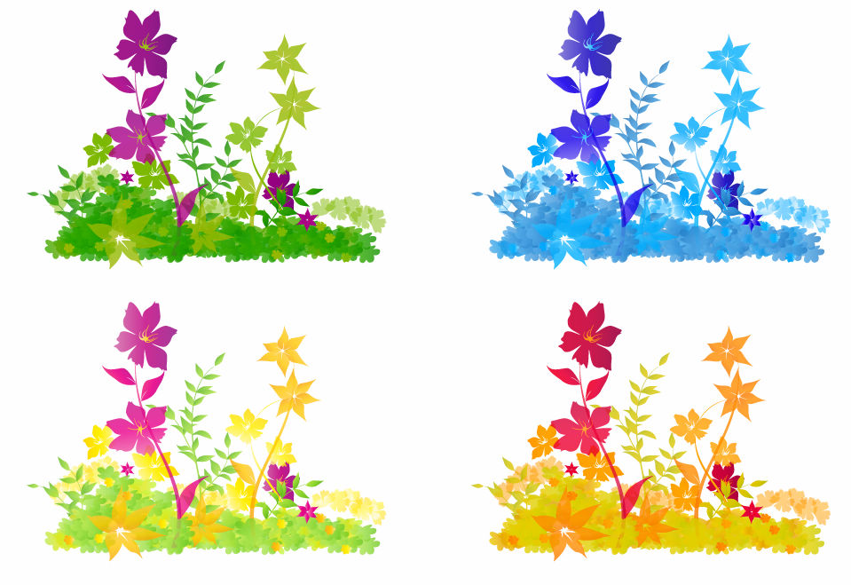 Free Vector Flower Patch Free Vector / 4Vector.