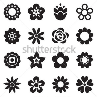 Simple Flower Pattern Clipart.