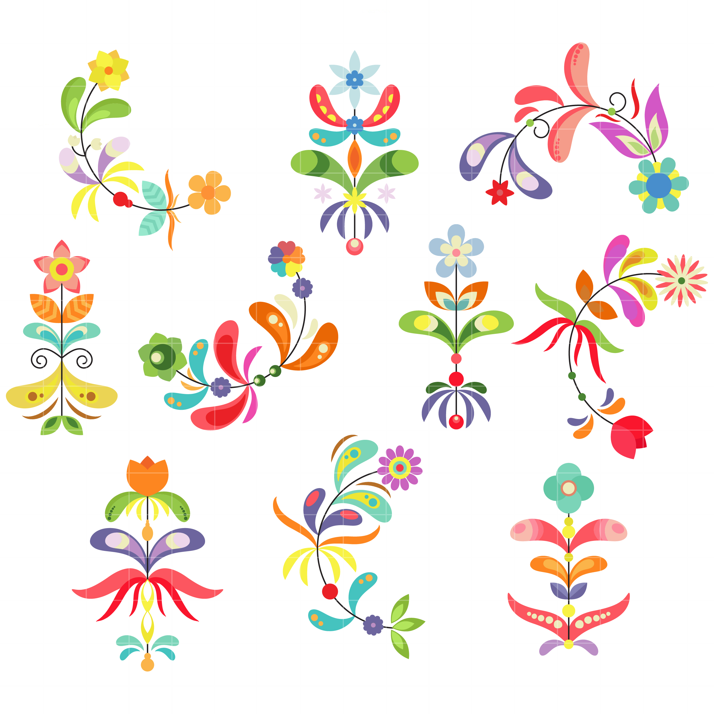 Flower Clipart Patterns.