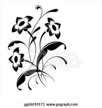 Elegant Flower Clip Art.