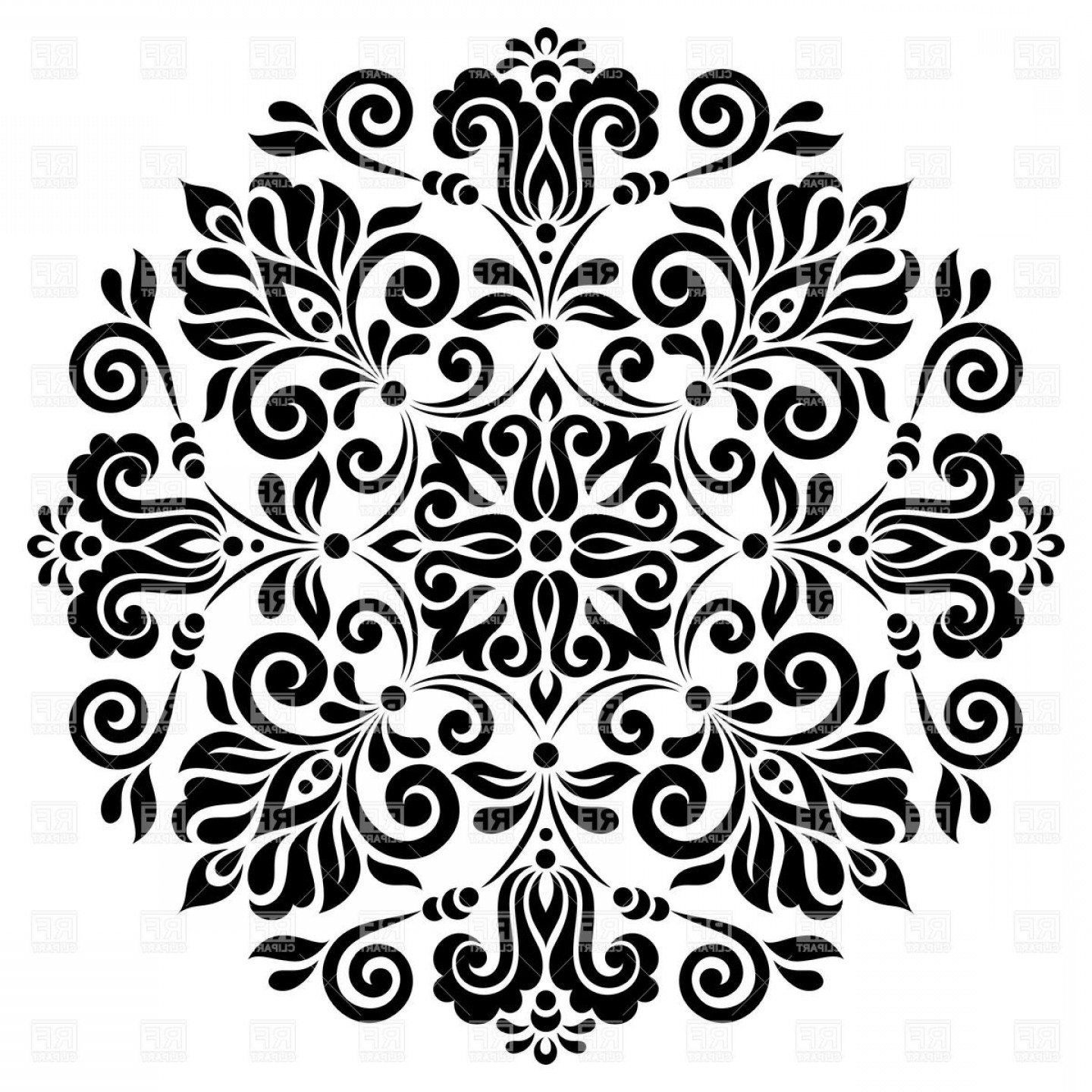 Hd Vector Flower Patterns Layout.