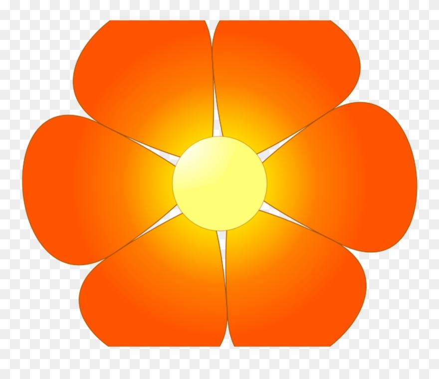 Orange Hawaiian Flower Clipart Clip Art Library.